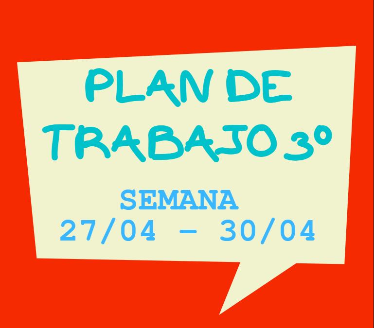 Plan de trabajo 3º
